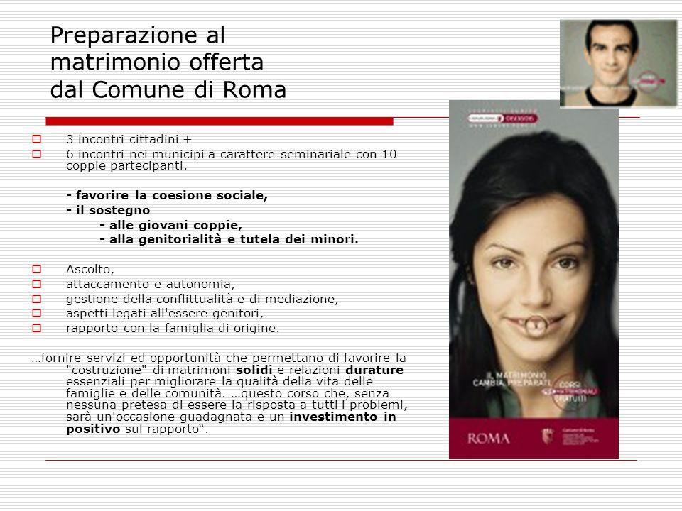 Preparazione al matrimonio offerta dal Comune di Roma