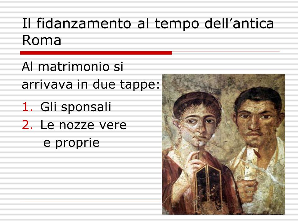 Il fidanzamento al tempo dell'antica Roma