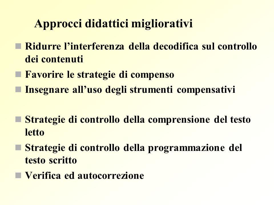 Approcci didattici migliorativi