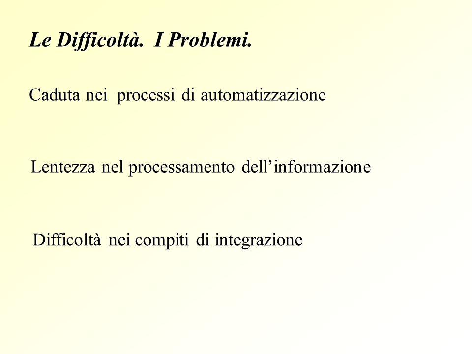 Le Difficoltà. I Problemi.