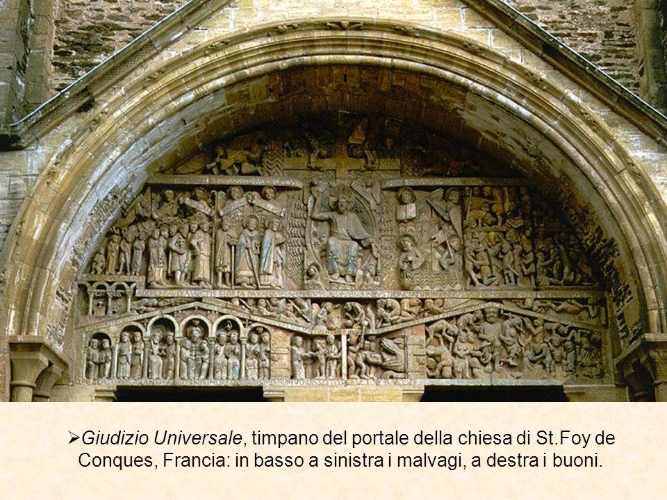 Giudizio Universale, timpano del portale della chiesa di St