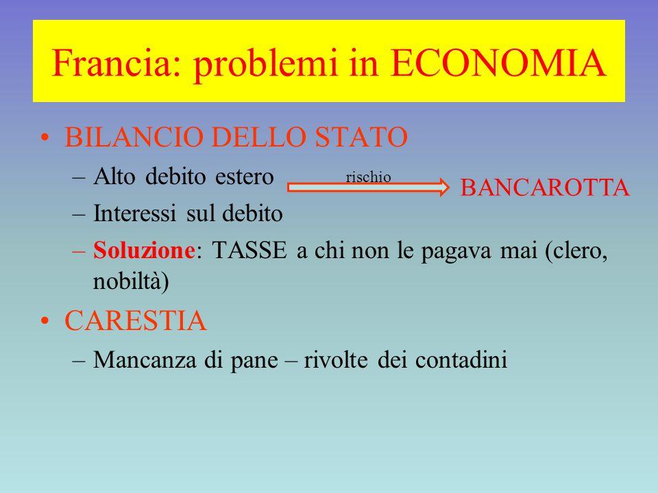 Francia: problemi in ECONOMIA