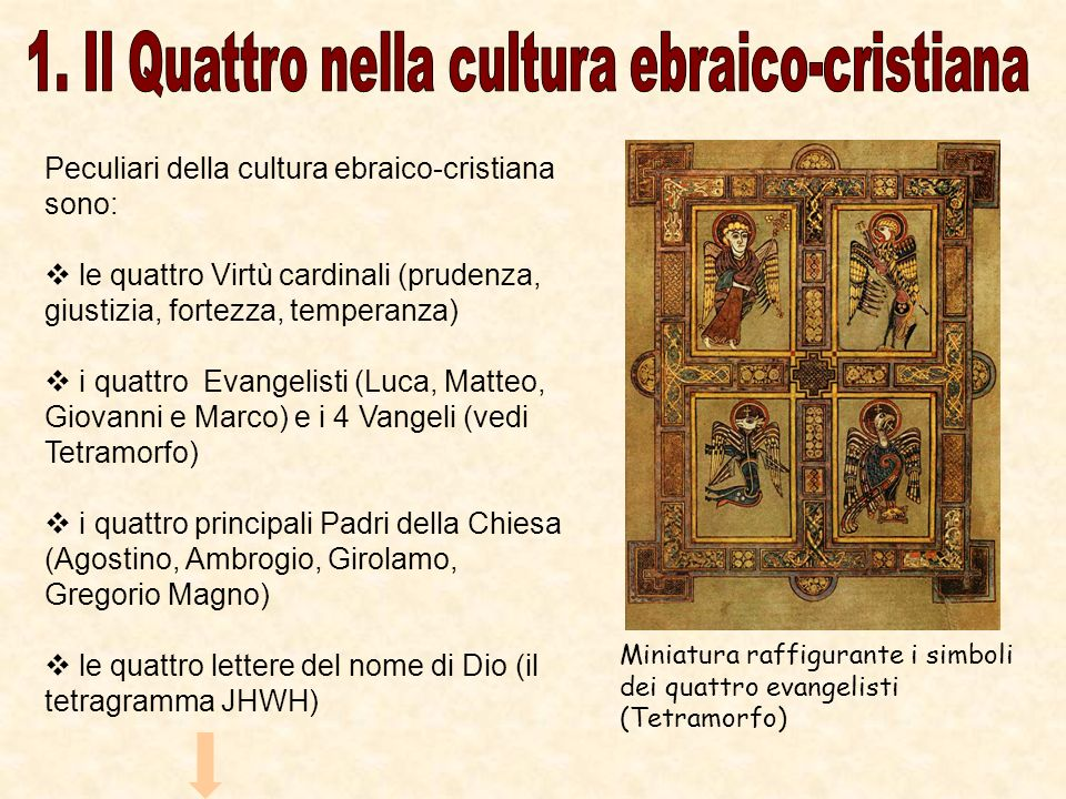 1. Il Quattro nella cultura ebraico-cristiana