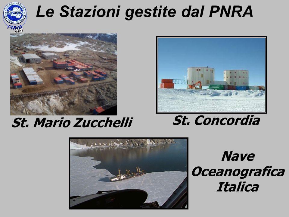 Le Stazioni gestite dal PNRA Nave Oceanografica Italica