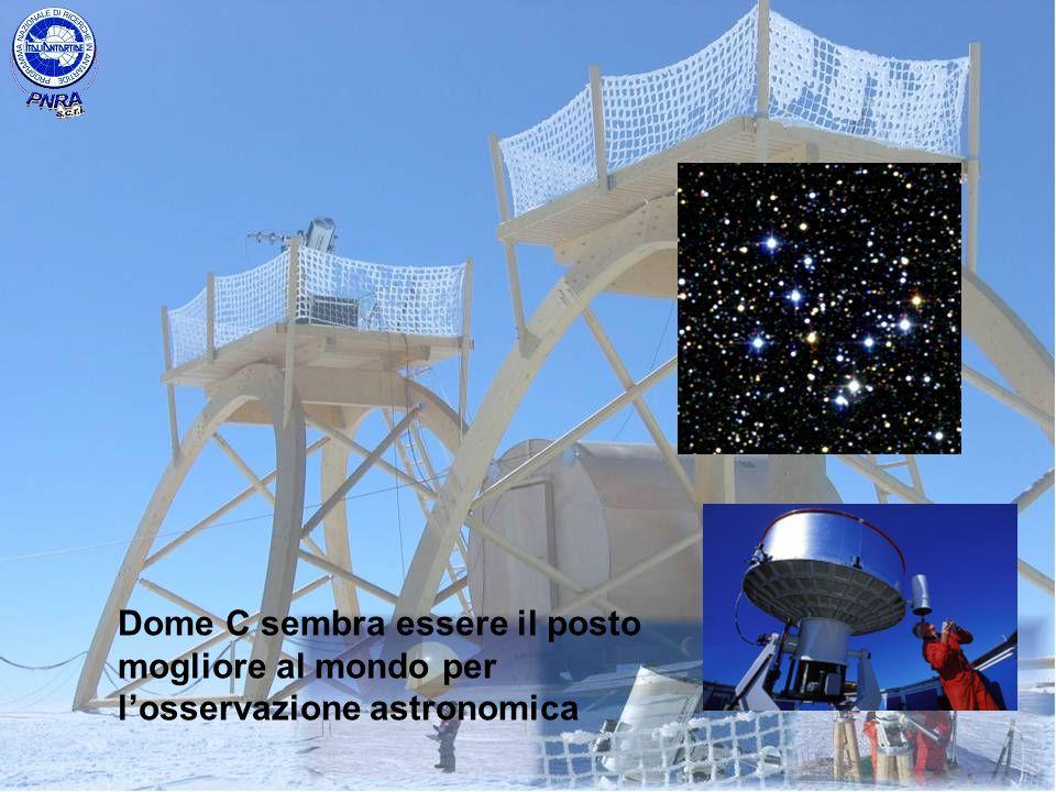 Dome C sembra essere il posto mogliore al mondo per l'osservazione astronomica