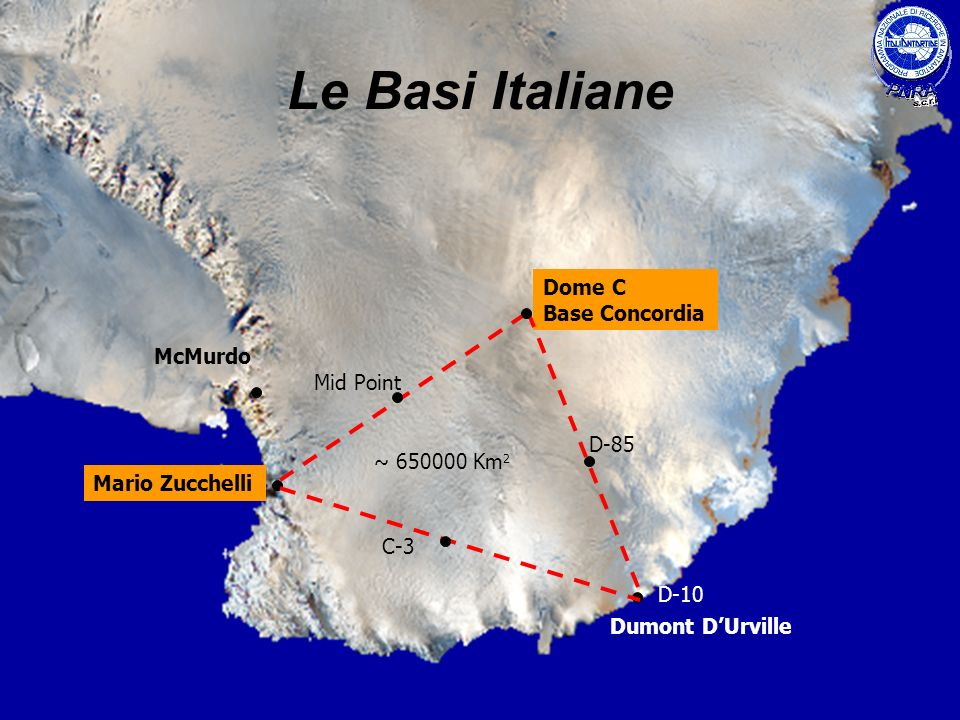 Le Basi Italiane Dome C Base Concordia McMurdo Mid Point D-85