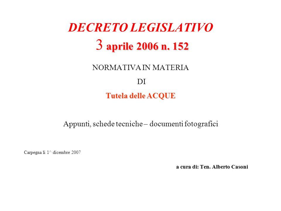 DECRETO LEGISLATIVO 3 aprile 2006 n. 152