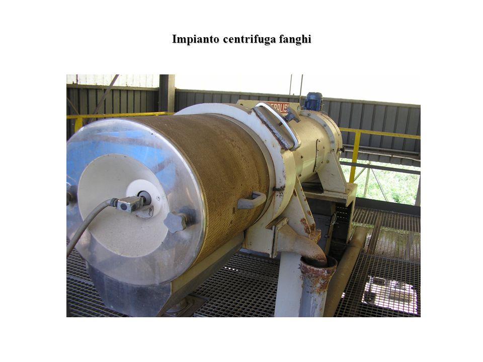 Impianto centrifuga fanghi