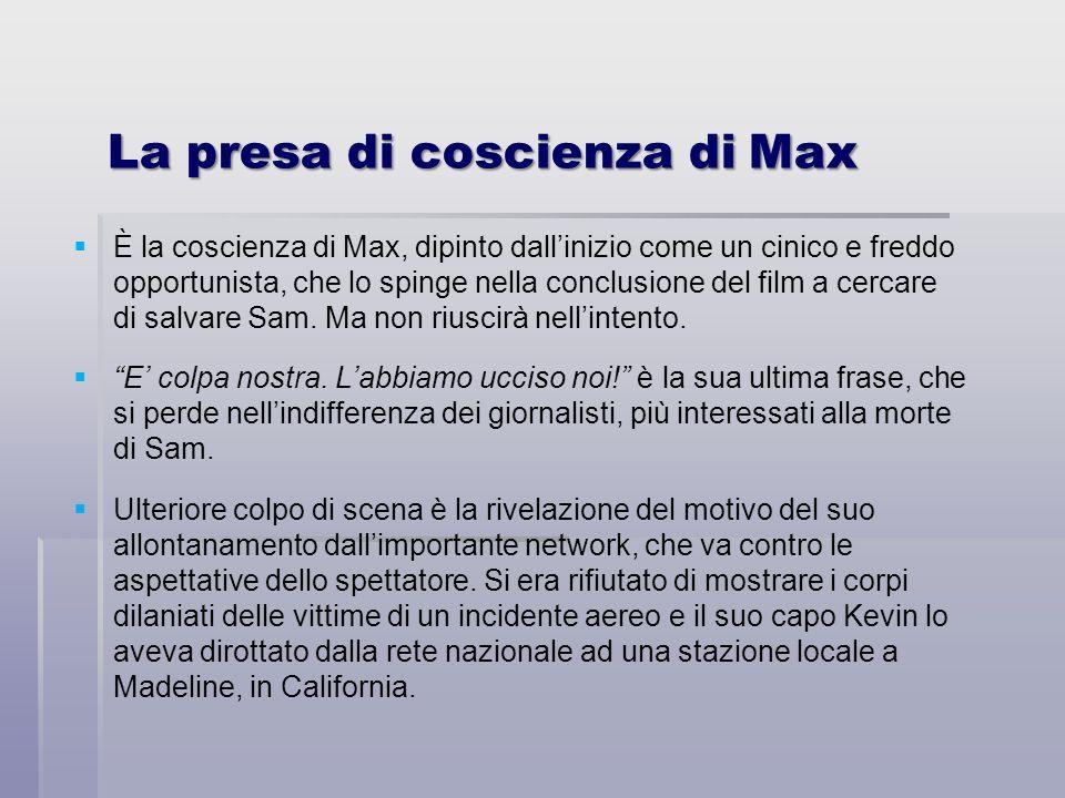 La presa di coscienza di Max