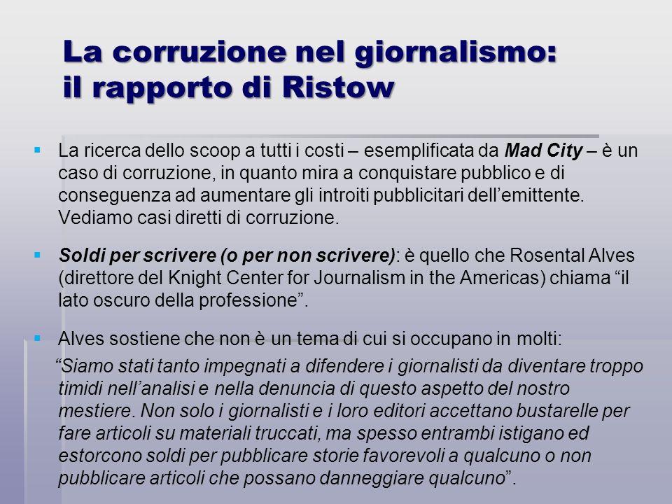 La corruzione nel giornalismo: il rapporto di Ristow