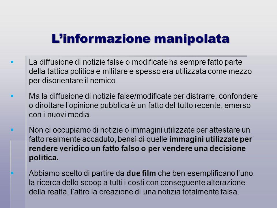 L'informazione manipolata