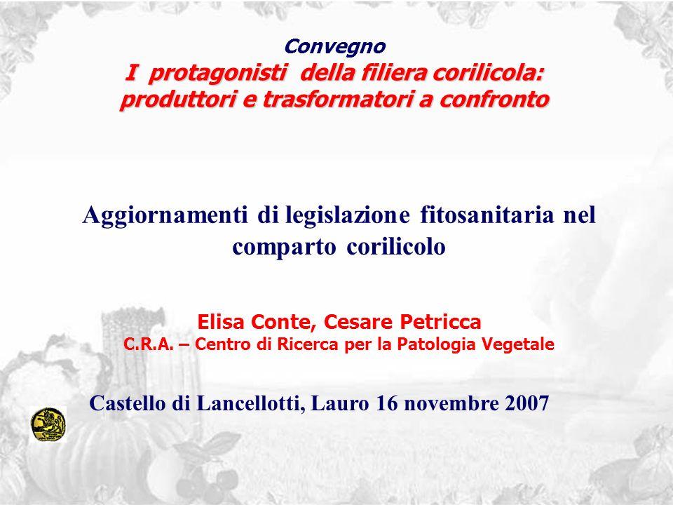 Aggiornamenti di legislazione fitosanitaria nel comparto corilicolo