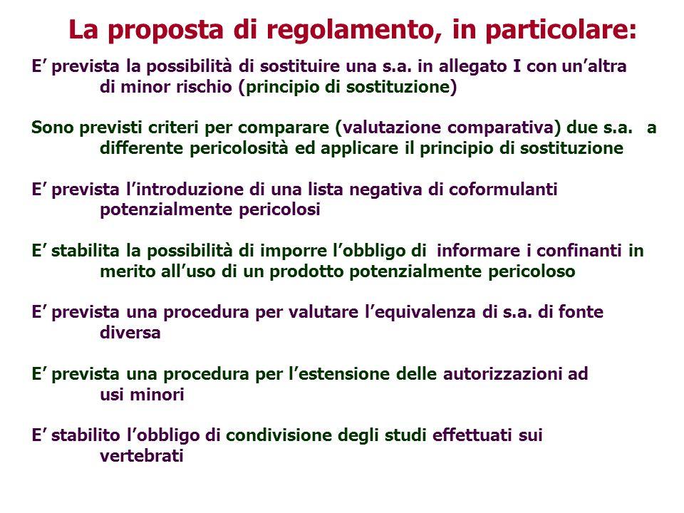La proposta di regolamento, in particolare: