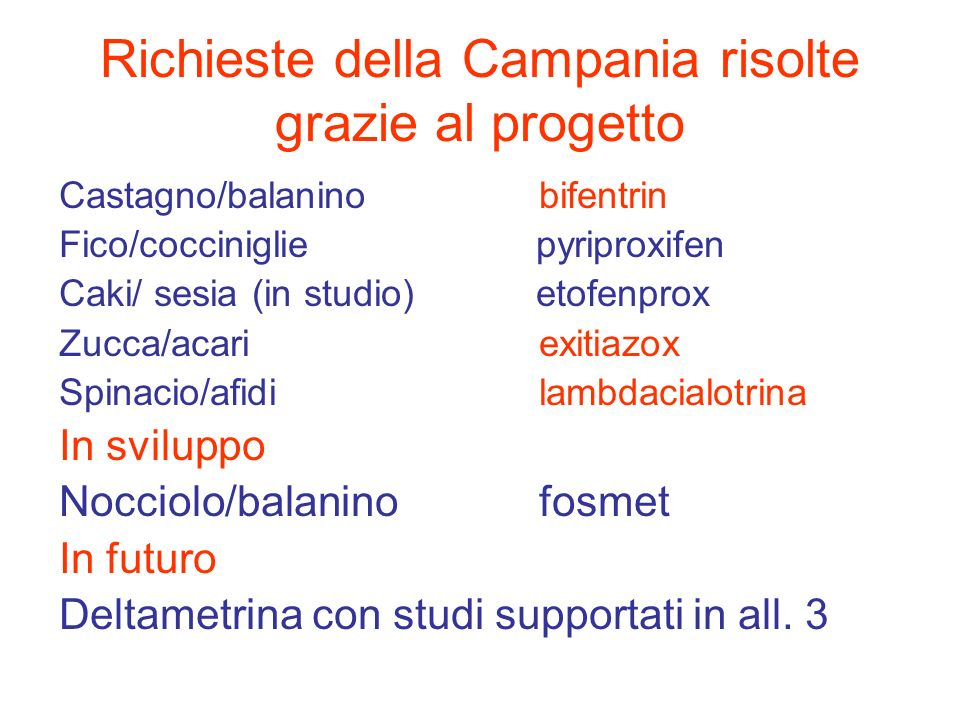 Richieste della Campania risolte grazie al progetto