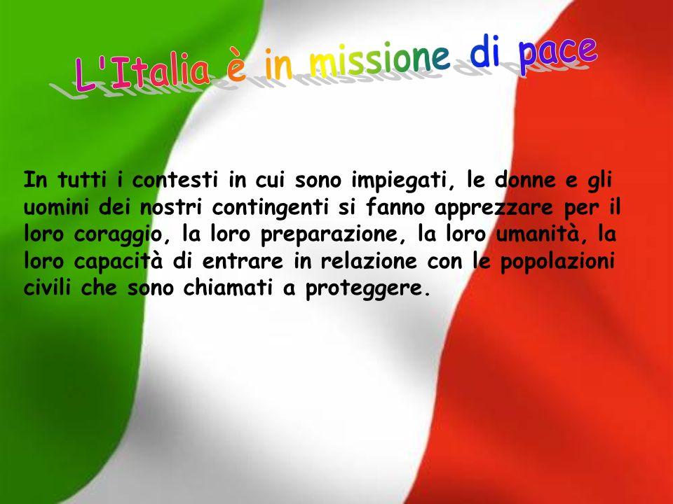 L Italia è in missione di pace