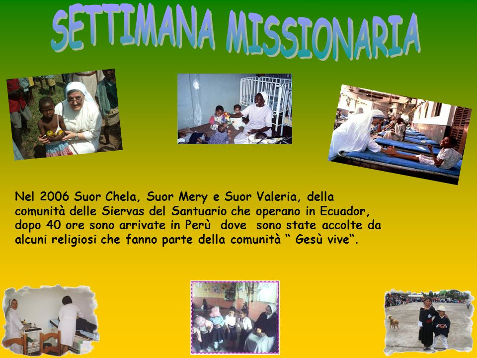 SETTIMANA MISSIONARIA