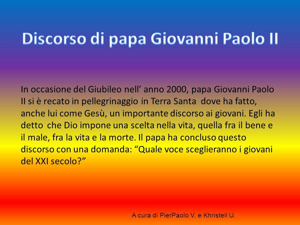 Discorso di papa Giovanni Paolo II