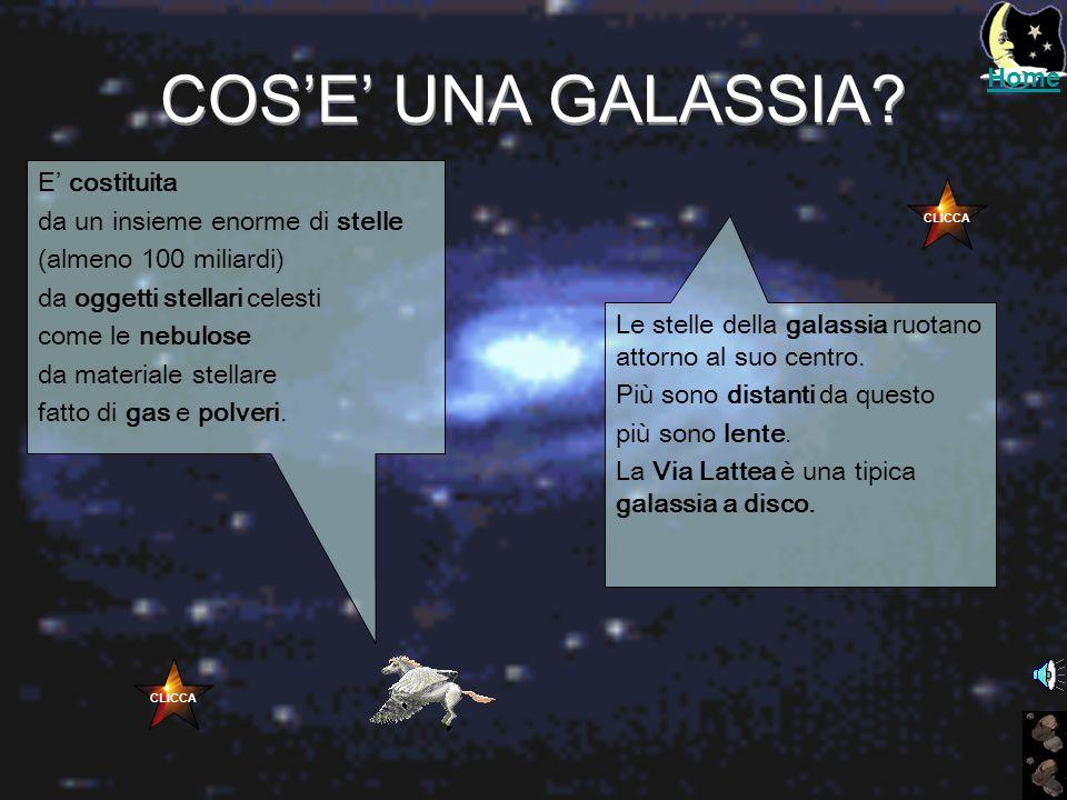 COS'E' UNA GALASSIA Home E' costituita da un insieme enorme di stelle