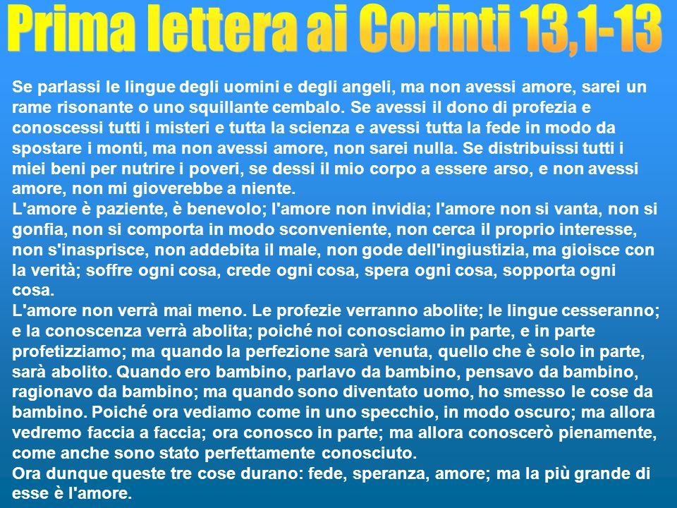 Prima lettera ai Corinti 13,1-13