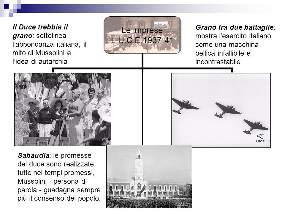 Il Duce trebbia il grano: sottolinea l'abbondanza italiana, il mito di Mussolini e l'idea di autarchia