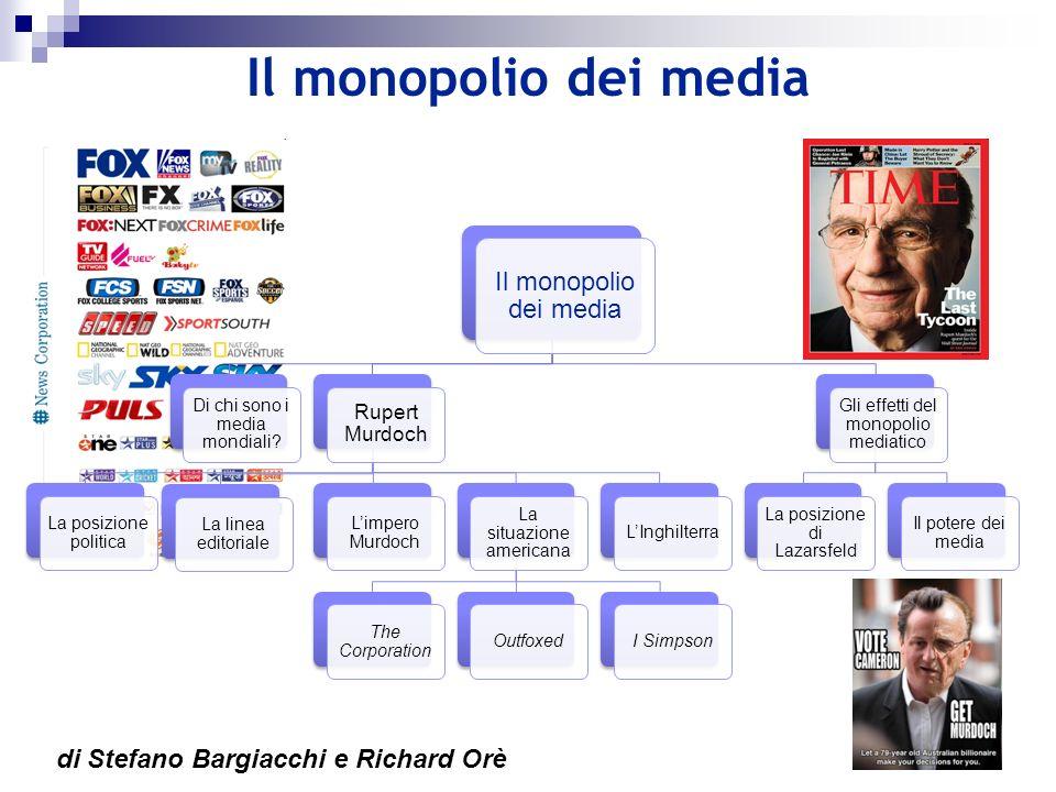 Il monopolio dei media Il monopolio dei media