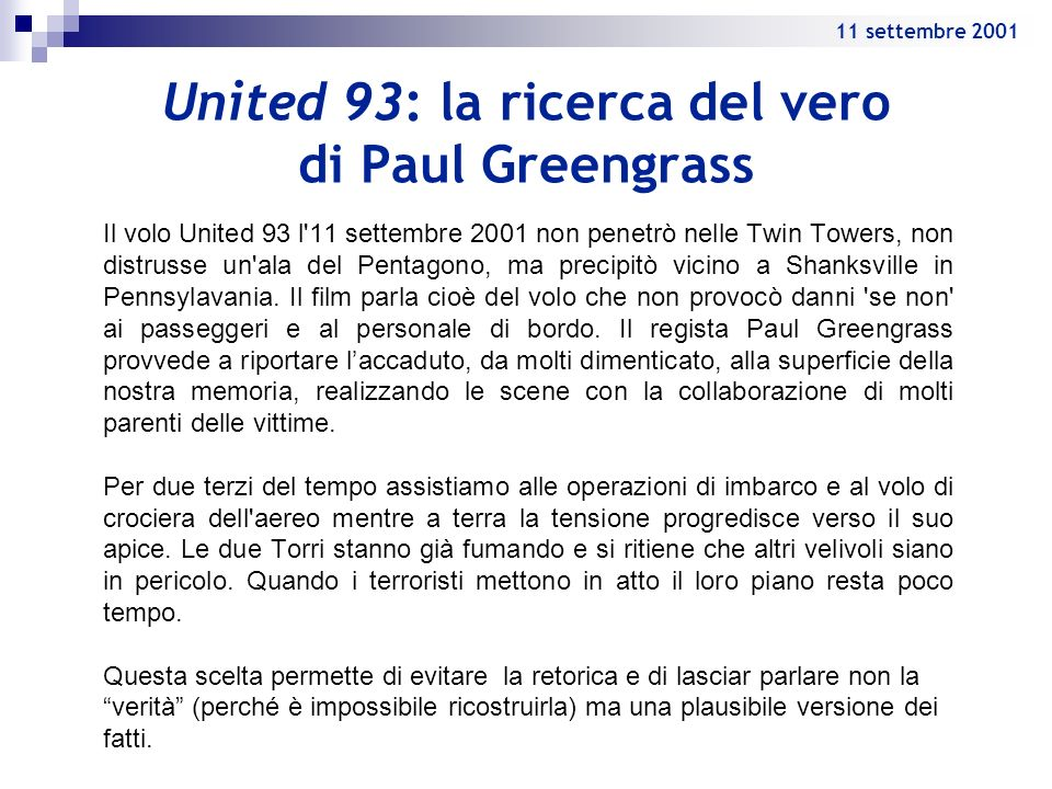 United 93: la ricerca del vero di Paul Greengrass