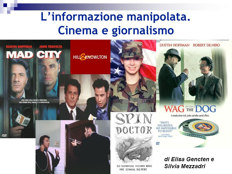 L'informazione manipolata. Cinema e giornalismo