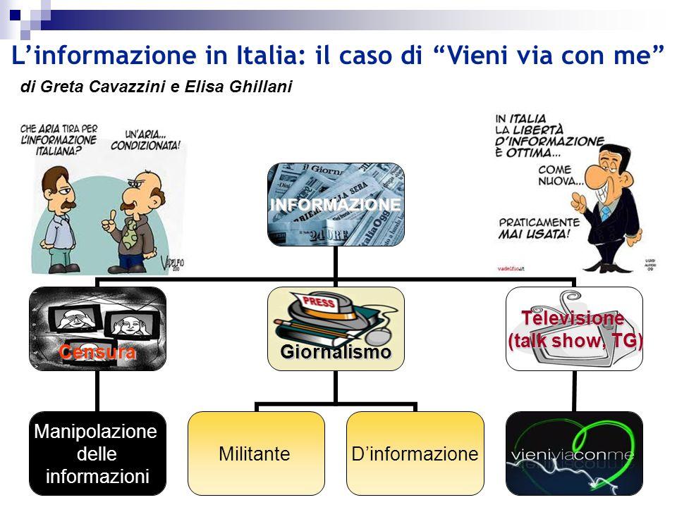 L'informazione in Italia: il caso di Vieni via con me