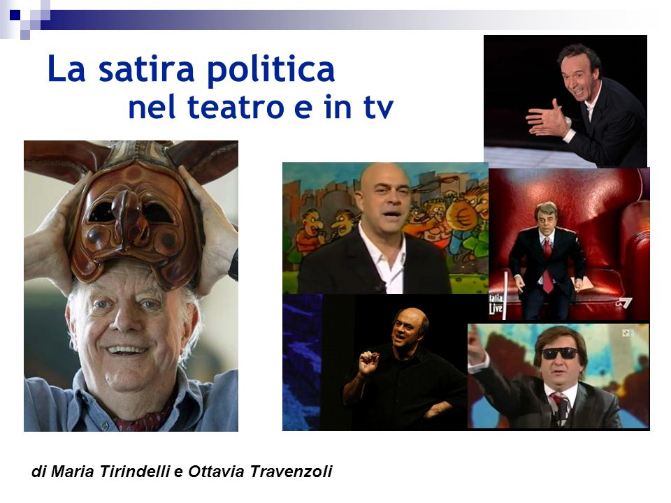La satira politica nel teatro e in tv