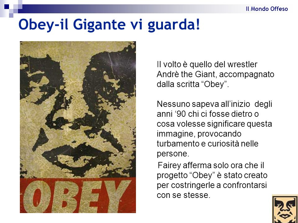 Obey-il Gigante vi guarda!