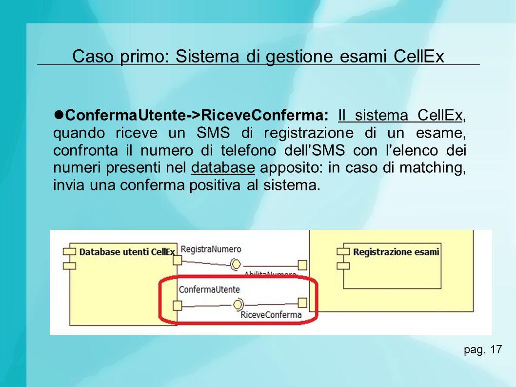 Caso primo: Sistema di gestione esami CellEx