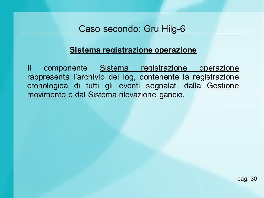 Sistema registrazione operazione