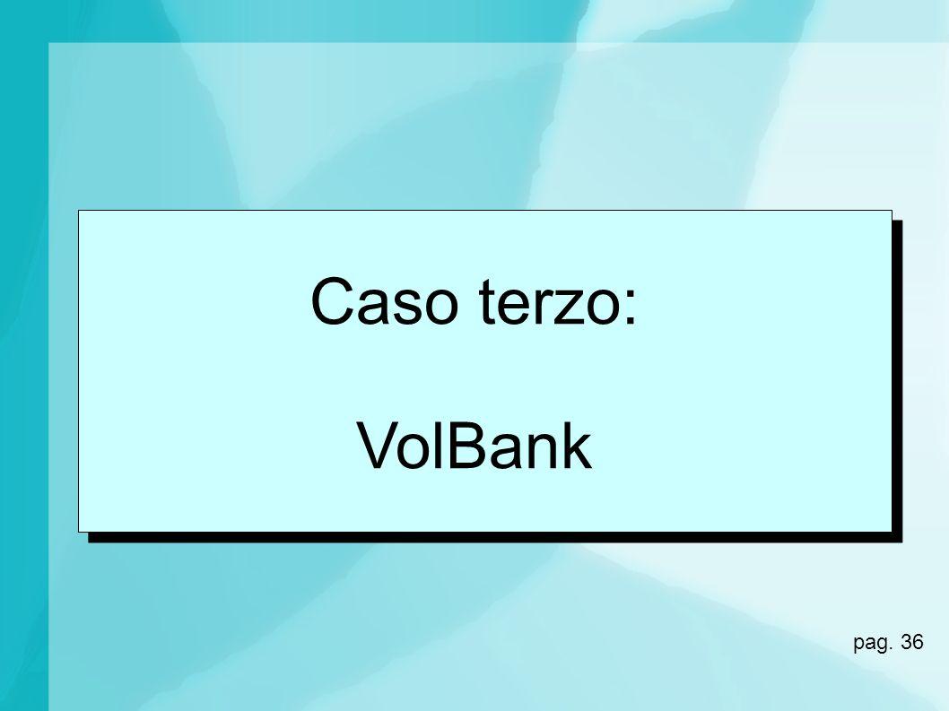 Caso terzo: VolBank pag. 36 36