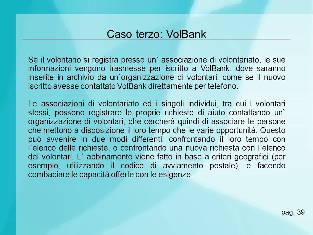 Caso terzo: VolBank