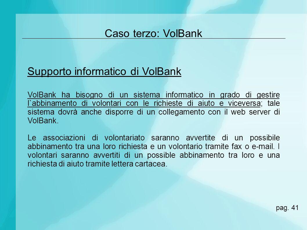 Supporto informatico di VolBank