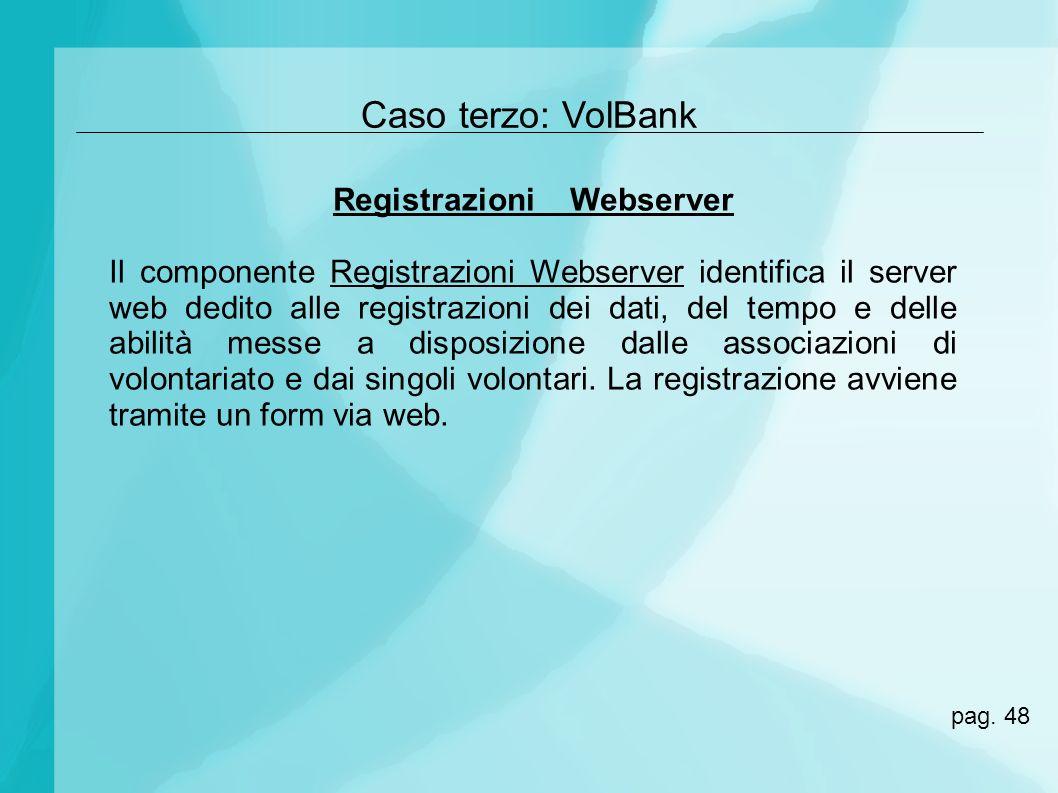 Registrazioni Webserver