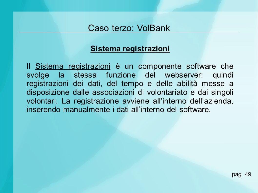 Sistema registrazioni