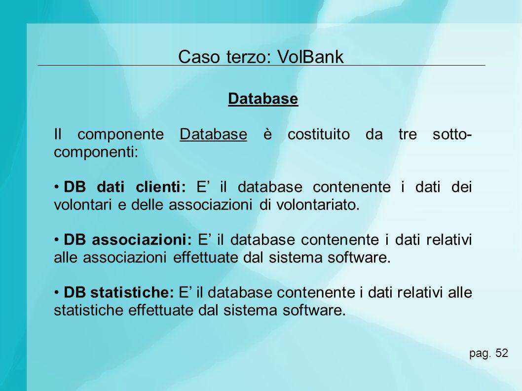 Caso terzo: VolBank Database