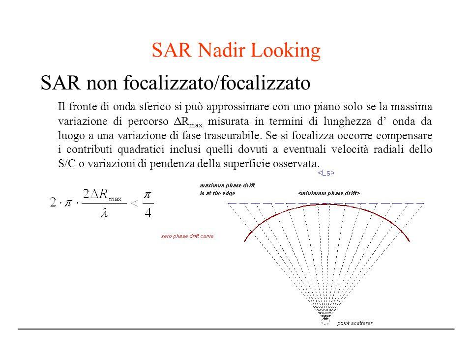 SAR non focalizzato/focalizzato