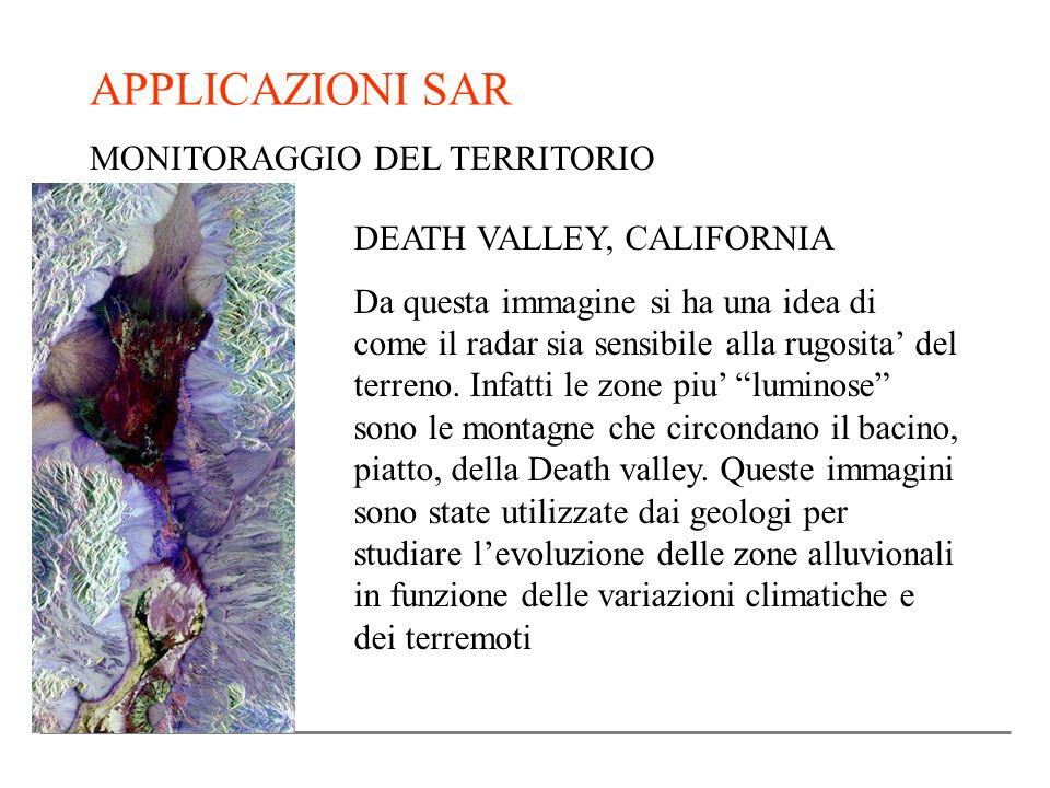 APPLICAZIONI SAR MONITORAGGIO DEL TERRITORIO DEATH VALLEY, CALIFORNIA