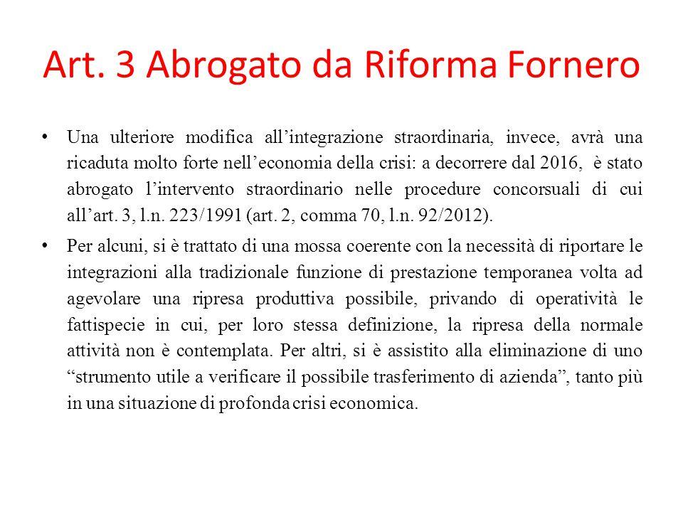 Art. 3 Abrogato da Riforma Fornero