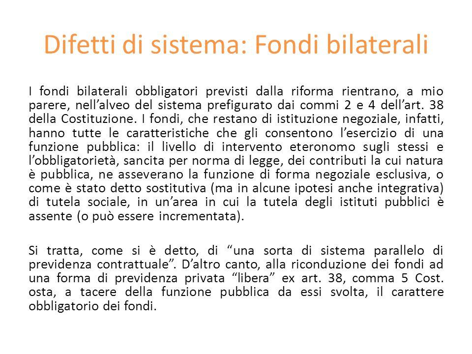 Difetti di sistema: Fondi bilaterali