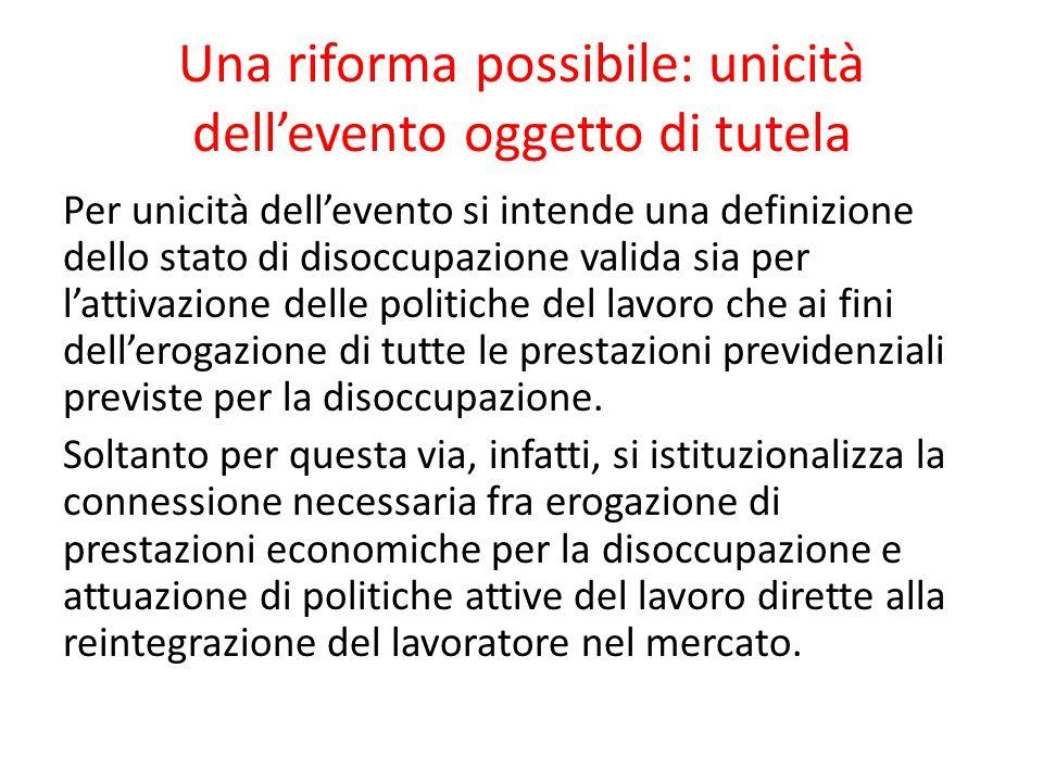 Una riforma possibile: unicità dell'evento oggetto di tutela