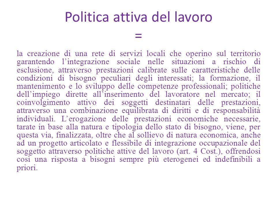 Politica attiva del lavoro =