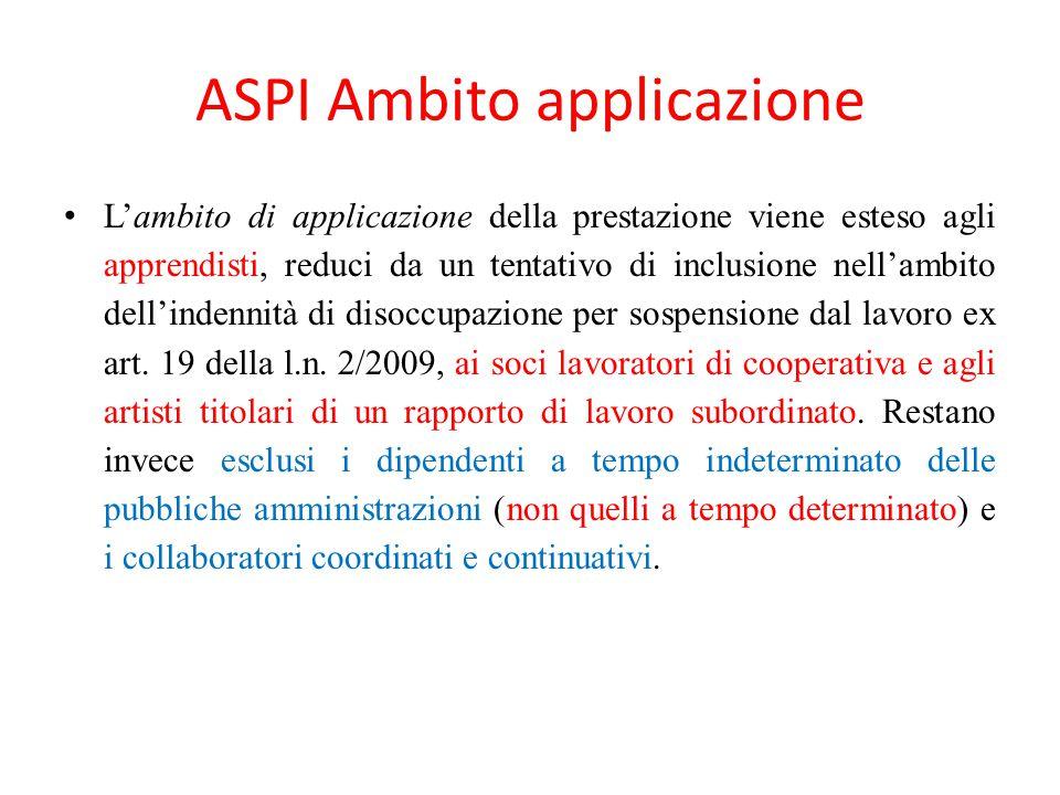 ASPI Ambito applicazione