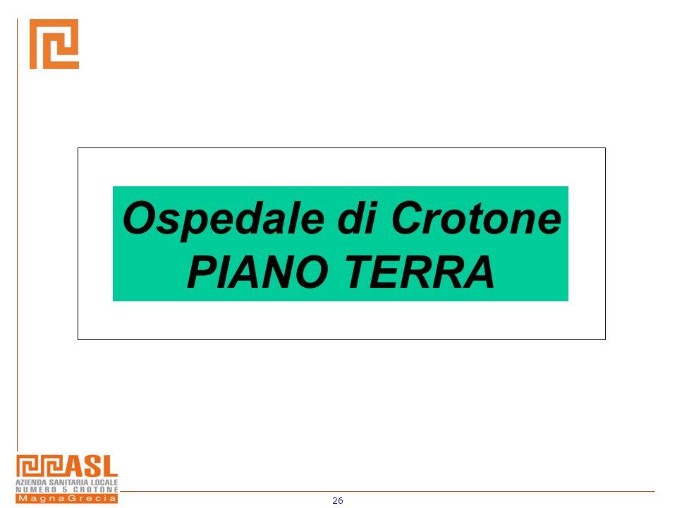 Ospedale di Crotone PIANO TERRA