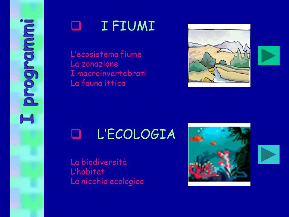 I programmi I FIUMI L'ECOLOGIA L'ecosistema fiume La zonazione