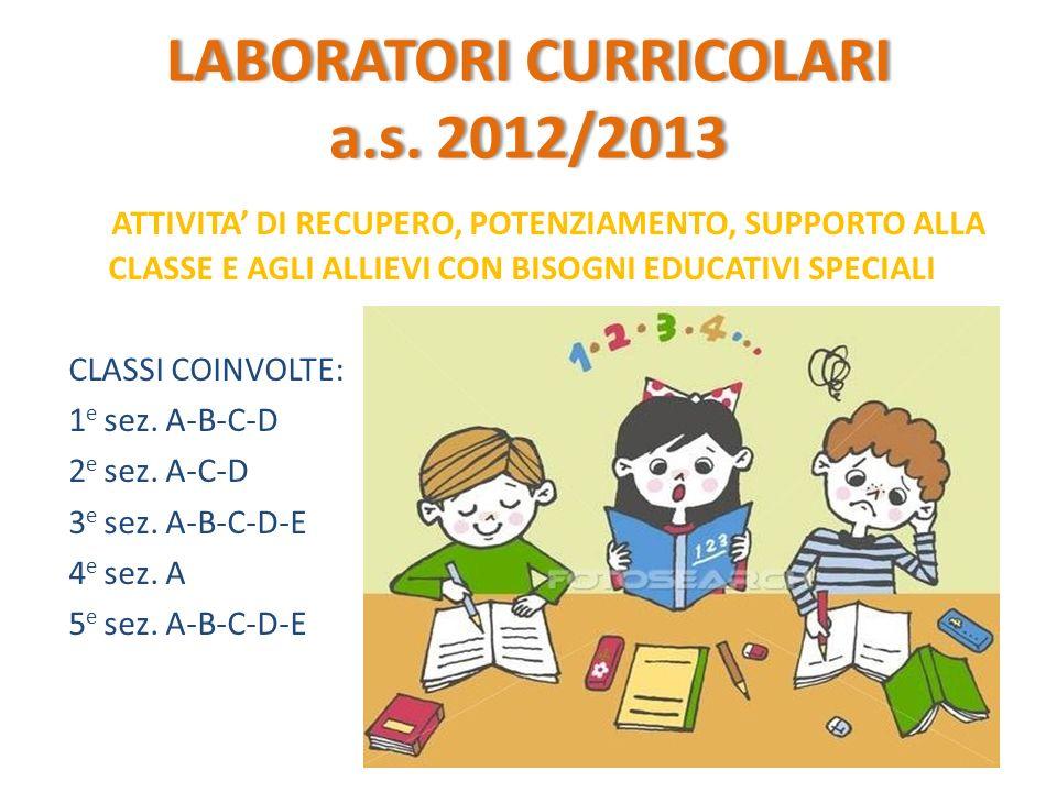 LABORATORI CURRICOLARI a.s. 2012/2013