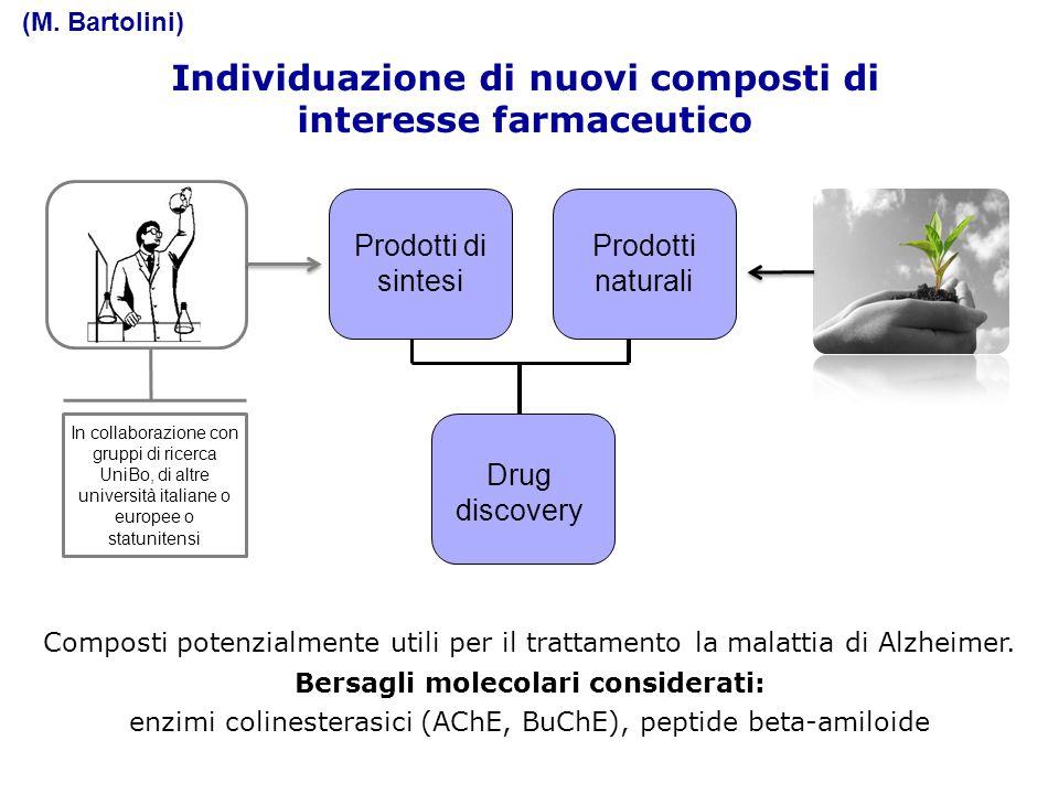 (M. Bartolini) Scopo della Tesi. Individuazione di nuovi composti di interesse farmaceutico. Prodotti di sintesi.