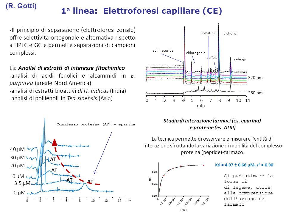 1a linea: Elettroforesi capillare (CE)